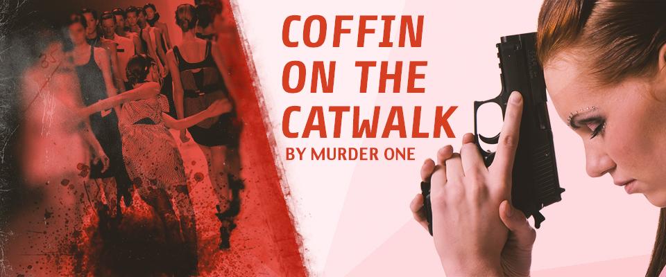 coffin on catwalk